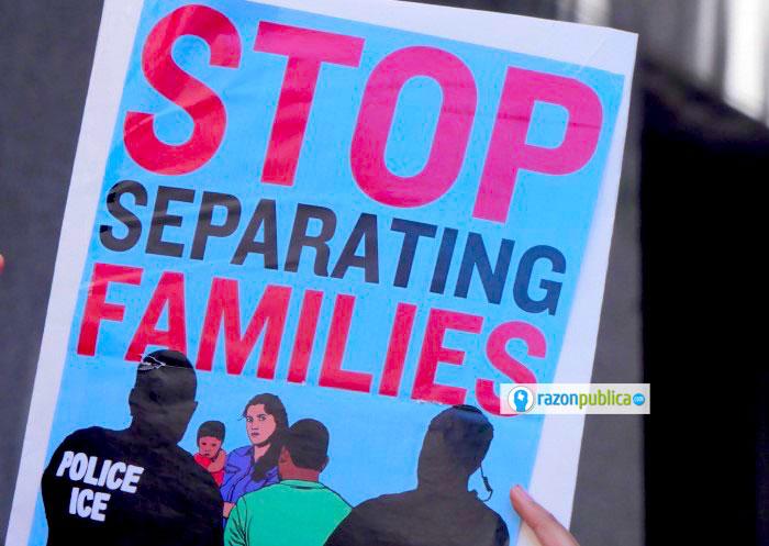 Protestas en contra de la separación de familias.