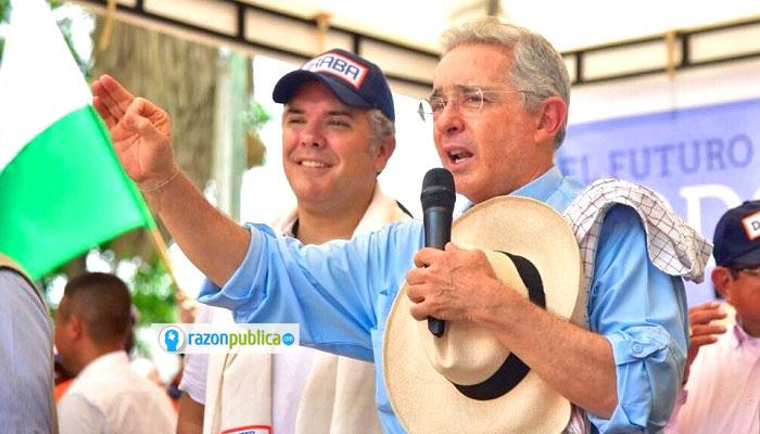 Iván Duque y el presidente Uribe.