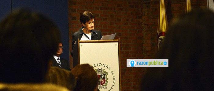 Adela Cortina en la entrega del doctorado honoris causa.