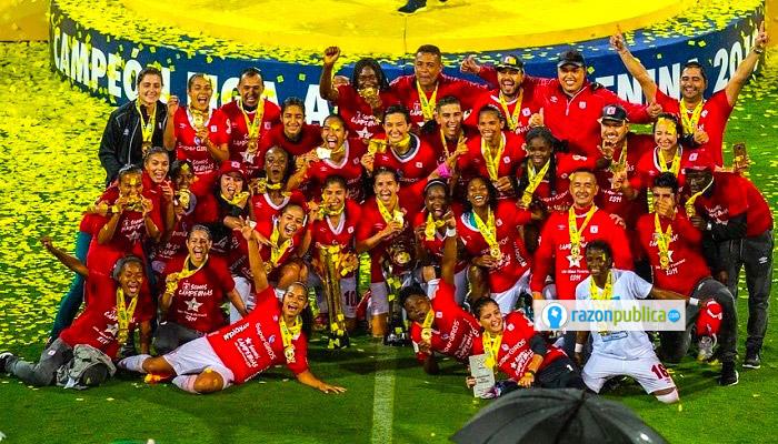 América de Cali se consagró por primera vez como campeón en la historia del fútbol profesional femenino