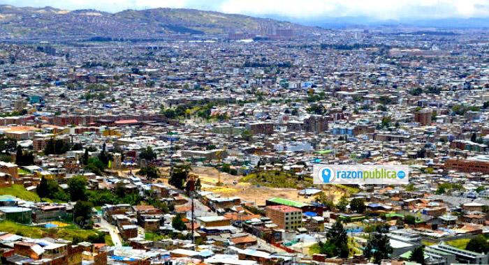 Los hogares de bajos ingresos suelen ubicarse al sur-oriente de la ciudad.