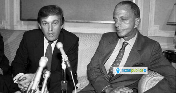 Donald Trump y su mentor, Roy Cohn.