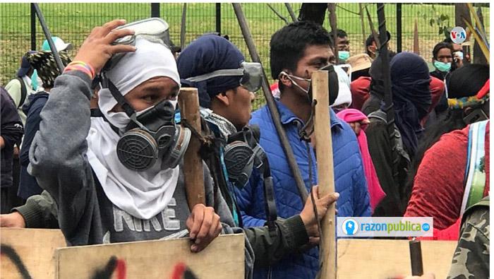 Protestas en Ecuador que acabaron por forzar al presidente Moreno a no seguir adelante con la derogación de subsidios al combustible.