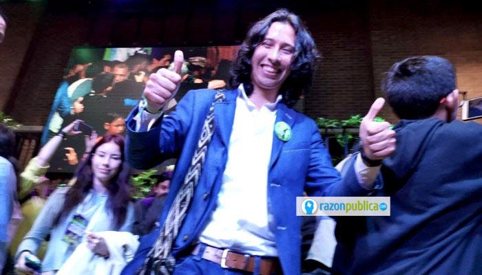 Julián Rodríguez, el concejal más joven, de la Alianza Verde.
