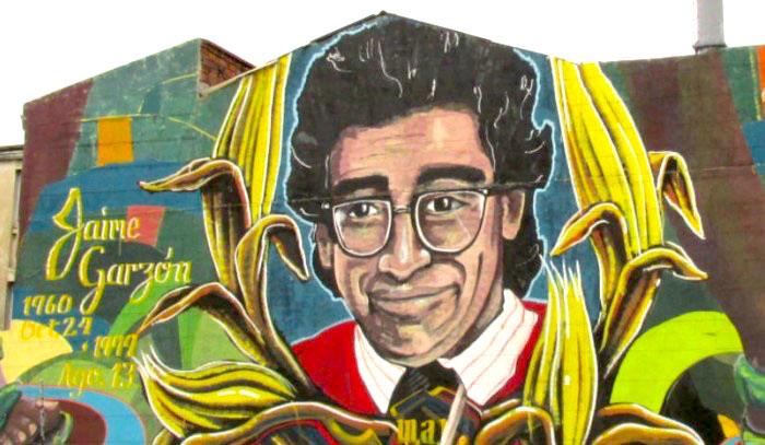Los murales de Jaime Garzón son emblemáticos y hacen parte del turismo gráfico.
