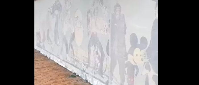 Mural borrado a los artistas Luisa Poncas y Power Paola