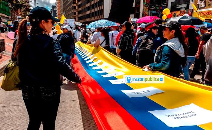 Cortesía Jonathan Santos. Los jóvenes que han salido a marchar, lo mejor que tiene Colombia y a los que este gobierno no tiene nada que ofrecerles.