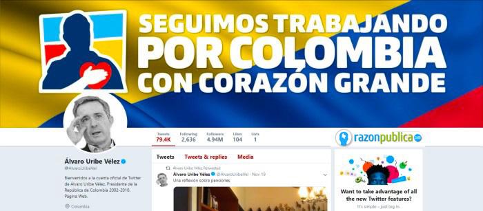 Twitter Álvaro Uribe.