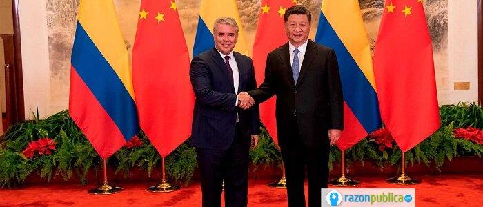 presidentes de china y colombia