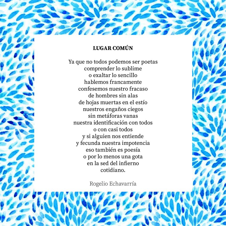 Poema Lugar común