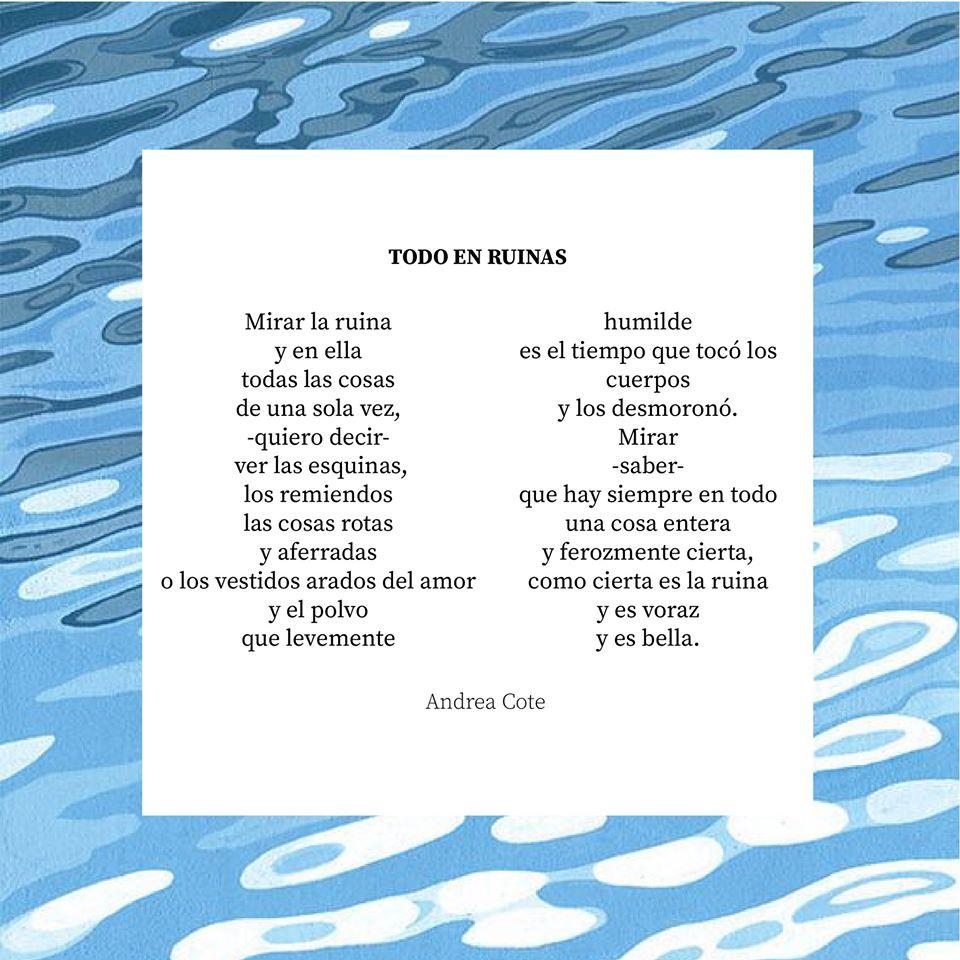 Todo en ruinas de Andrea Cote