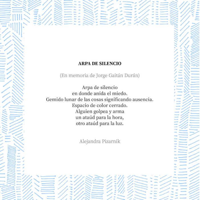 Poema en memoria de Jorge Gaitan Durán