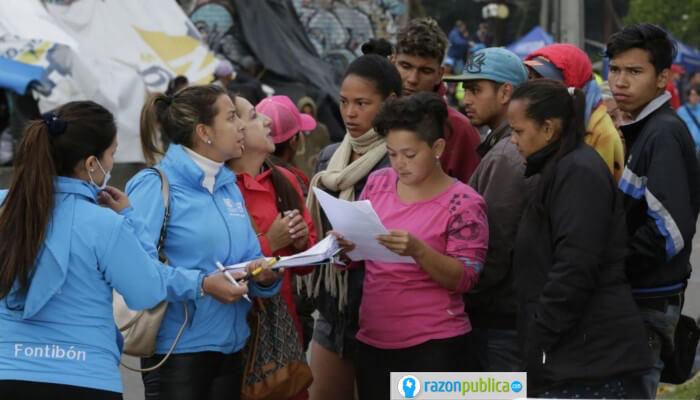 Migrantes venezolanos más vulnerables en la pademia