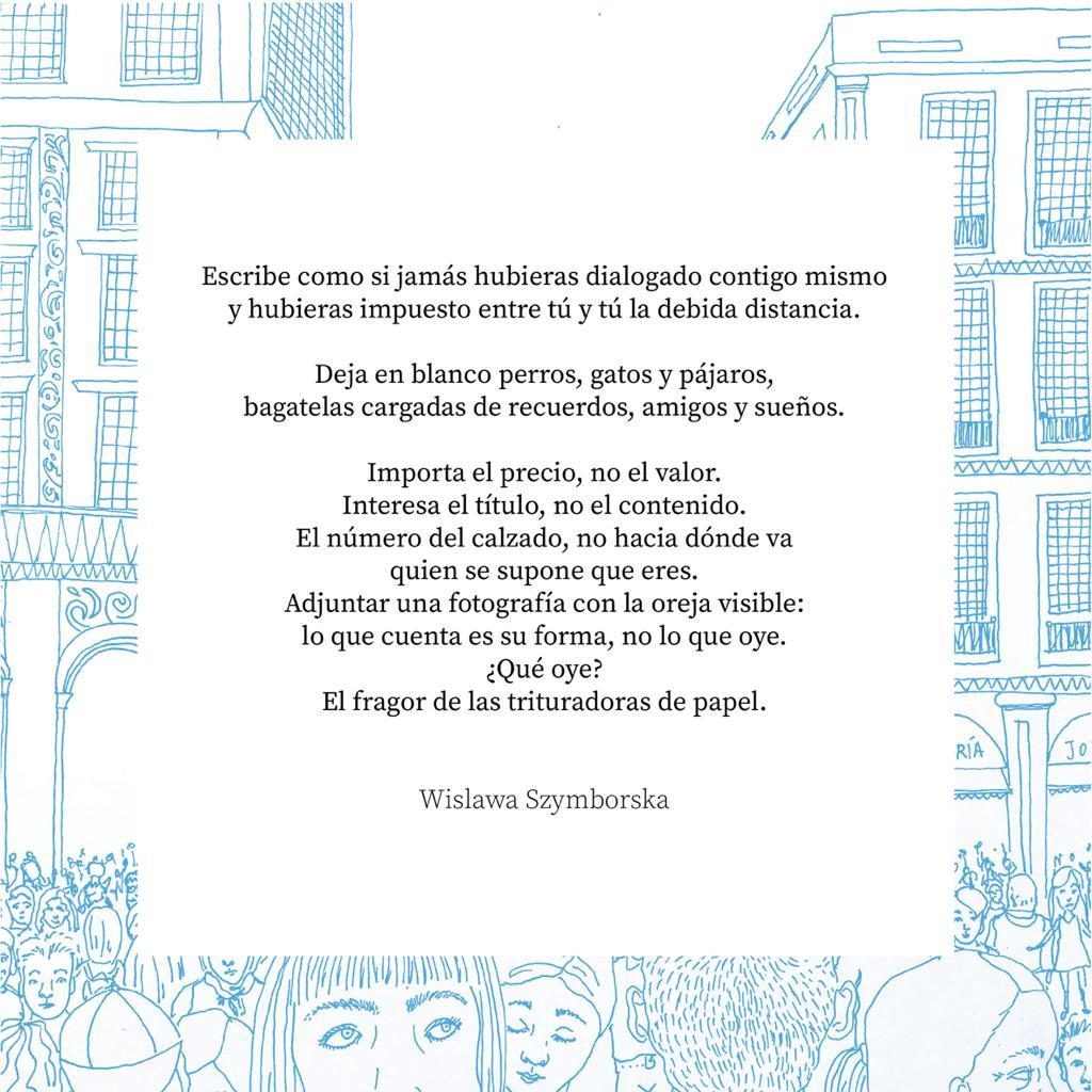 Wislawa Szymborska, escribiendo el curriculum