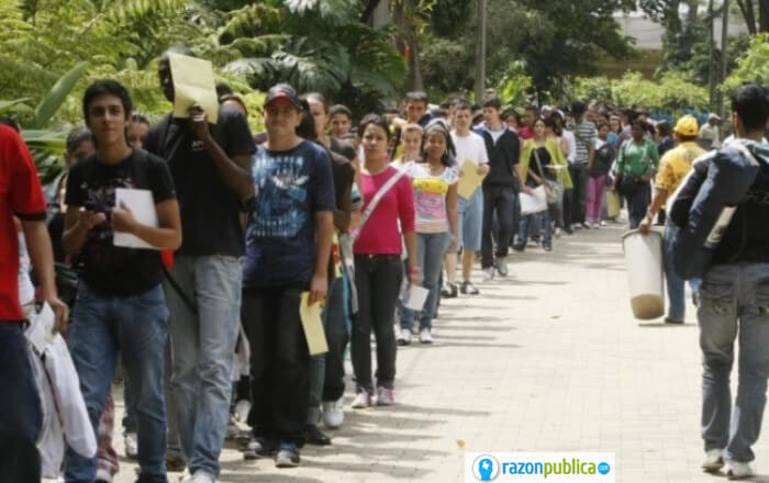 Filas de desempleados