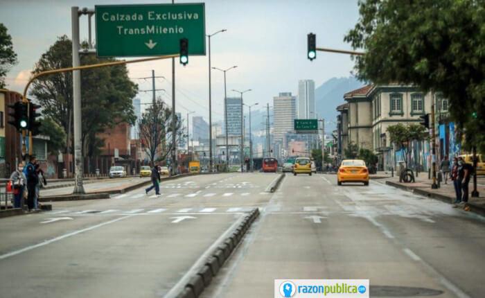 Reapertura del comercio en Bogotá